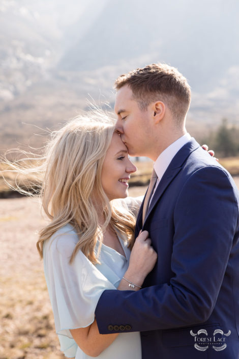 Wedding Photography Glasgow Kiss